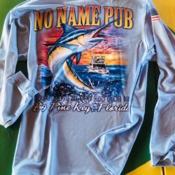 Long Sleeve Marlin Dri-Fit Blue - No Name Pub