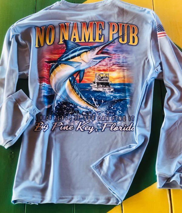 Long Sleeve Marlin Dri-Fit Blue - No Name Pub