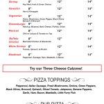 NNP Menu Page 3 - Pub Pizzas